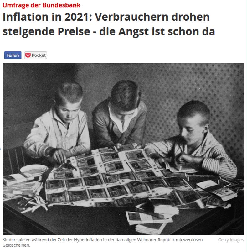 Umfrage der Bundenbank zur Inflation
